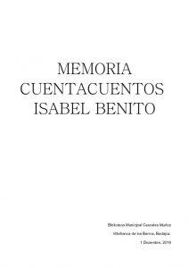 thumbnail of MEMORIA CUENTACUENTOS ISABEL BENITO