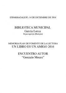 thumbnail of MEMORIA ENCUENTRO GONZALO MOURE – Esparragalejo