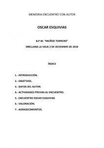 thumbnail of MEMORIA OSCAR ESQUIVIAS