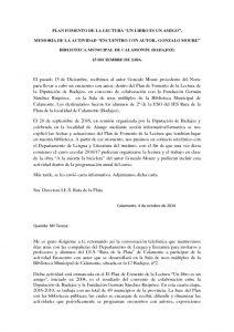 thumbnail of Memoria encuentro autor Gonzalo Moure