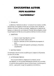 thumbnail of memoria Encuentro Alfonsina. Pepe Maestro