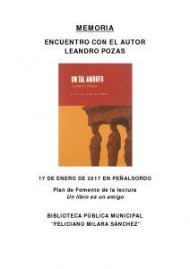 thumbnail of MEMORIA ENCUENTRO CON AUTOR _LEANDRO POZAS_