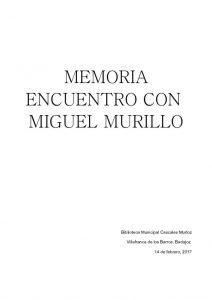 thumbnail of MEMORIA ENCUENTRO MIGUEL MURILLO VILLAFRANCA
